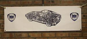 lancia beta montecarlo gr4 large pvc show banner work shop garage shed man cave