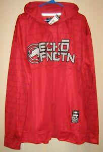NWT $74 Ecko Function Mens sz 2XL Red Lightweight Sport Hoodie
