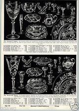 1941 PAPER AD Fuschia B Pattern Hand Blown Cut Crystalware Crystal Kentwood