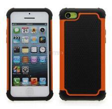 Fits iPhone 5C Case Impact Rugged Rubber Hybrid Shockproof Hard Cover - Orange