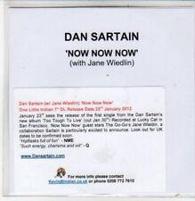 (DC181) Dan Sartain, Now Now Now - 2012 DJ CD