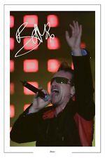 BONO SIGNED AUTOGRAPH  PHOTO PRINT U2