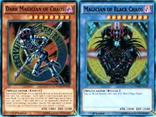 Dark Magician of Chaos + Magician of Black Chaos ULTRA 1st Mint YUGIHO YGLD