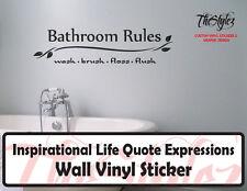 Bathroom Room Expressions Wall Vinyl Sticker