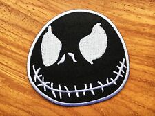 JACK SKELLINGTON FROM NBC Embroidered Iron On/ Sew On Applique Patch Black