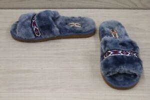 Minnetonka London 590427 Slide Slipper, Women's Size 10M, Blue