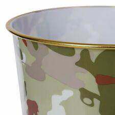 Kids Army Camouflage Waste Bin Boys Bedroom Camo Bucket Little Soldiers Gift