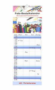 Kalender 2022 Familienplaner 4 Spalten Küchenkalender Bastelkalender XL 53x19 cm