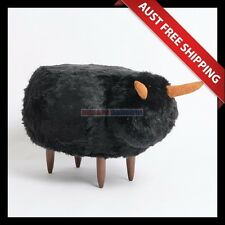 Baa Black Sheep Ottoman_Aussie Station, Foot Stool, Foot Rest, Chair Seat Sofa