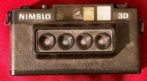Nimslo 3D Quadra Lens 35mm Vintage Camera Quadrascopic