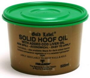 Gold Label Solid Hoof Oil for Horses | Horses & Ponies