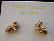 """Kate Spade New York """"PRINCE CHARMING"""" RARE STUD EARRINGS MINI FROG kiss a prince"""