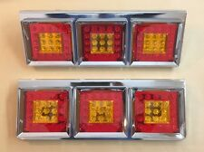 24V LED Rear Tail Lights Stainless Steel Case for Trailer Truck Volvo Scania MAN