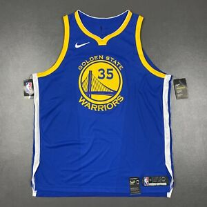 100% Authentic Kevin Durant Nike Warriors Icon Jersey Size 56 2XL Mens