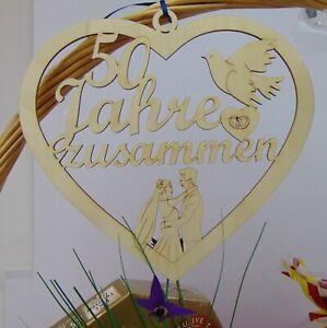 Jubiläum 50 Jahre zusammen Personalisiert Hochzeitstag Eheringe Holz Wunschnamen