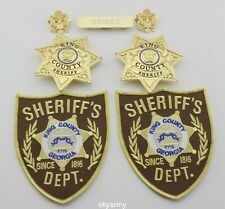 The Walking Dead King County Sheriff  Badges &patches &name bar &collar pins