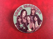 Pin Badge USSR Underground Rock IRON MAIDEN STRICTLY PROHIBITED Russia.Old RARE!