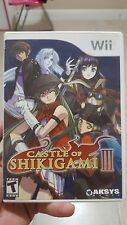 Castle of Shikigami III (Nintendo Wii) - CASE & MANUAL - NO GAME - Rare title