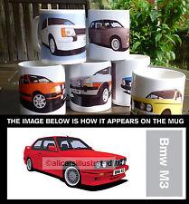 BMW M3 (E30) CAR ART MUG. PERSONALISE IT!