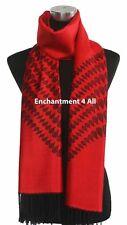 4-Ply Jacquard 100% Cashmere Pashmina Tear Drops Women Shawl Wrap Scarf, Red, XL