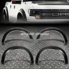POCKET-RIVET TEXTURED ABS SIDE WHEEL FENDER FLARE FOR 10-14 FORD F150 SVT RAPTOR