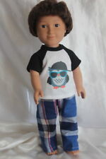 Dress Pajamas fits 18inch American Girl Boy Doll Clothes Owls Free Shipping