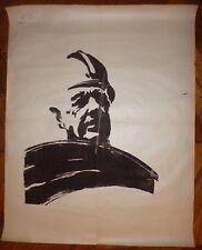 MAI 68 affiche originale sérigraphie Le Général De Gaulle en CRS Politique