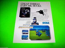 Sega SUPER HANG ON 1987 Original NOS Video Arcade Game Promo Sales Flyer Adv.