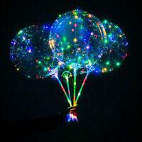 "5 PCS~ 18"" LED String Rainbow Light Up Balloon Christmas Wedding Birthday Party"