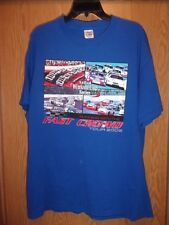 NASCAR tour 2002 blue Running with the Crowd XL t shirt