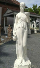 Statue EBE Figur H 80 cm weiß Steinfigur Steinguss Betonwerkstein Göttin Hebe