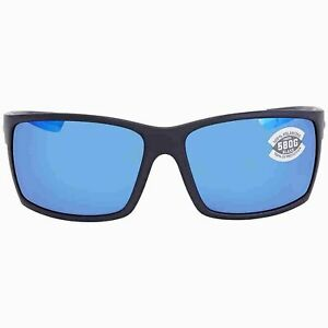 Costa Del Mar REEFTON Blackout Blue Mirror Sunglasses 580G Glass RFT 01 OBMGLP