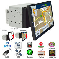 10.1 Inch Rotatable 2 Din Stereo Radio MP5 Player GPS Wifi Mirror Link OBD