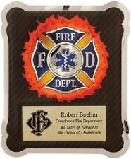 Fire Department Hero Plaque With Black background - with free Personalization