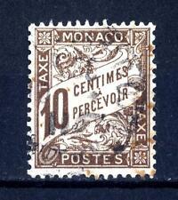 MONACO - Segnatasse - 1905/09 - Stampa tipografica - 10 cent. bruno - centrato