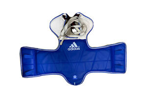 adidas Taekwondo Chest Protector Youth Xs Size 1 Red/Blue Reversible