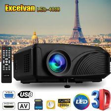 1200Lumens 1080P LED Videoproittore 3D Multimedia cine teatro HDMI USB VGA AV TF
