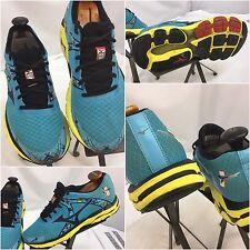 Mizuno Wave Inspire 10 Sz 10 Women Blue Yellow Running Shoes EUC YGI E7-3