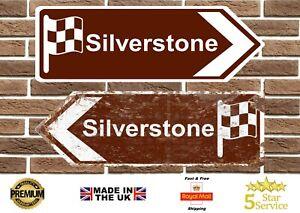 Silverstone Circuit Metal Road Sign Vintage Retro Garage Sign Man Cave