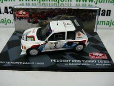 RMIT7H 1/43 IXO Rallye Monte Carlo  : PEUGEOT 205 Turbo 16 E2 1986 Kankkunen