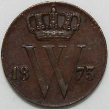 1873 | Netherlands 1/2 Cent | Copper | Coins | KM Coins
