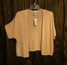 OVERSIZED KHAKI DOLMAN OPEN FRONT NUBBY KNIT CARDIGAN SWEATER TOP~1X~18~20W~2X~