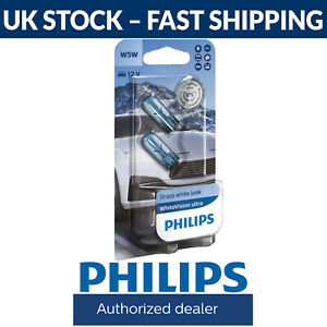 Philips WhiteVision Ultra Car Headlight Bulbs W5W (Twin Pack) White Vision