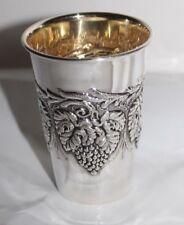 Traubenbecher Wein Silberbecher Sterling Silber 925 Silber innen vergoldet Neu