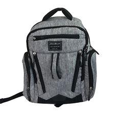 Eddie Bauer First Adventure Baby Diaper Bag Backpack Gray Black Nylon Pockets