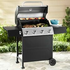 Gas Grill 4 Burner BBQ Backyard Patio Stainless Steel Barbecue Outdoor Cooking N