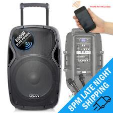 "Vonyx AP1500PA 15"" Bluetooth Active Portable Battery PA System 800W UHF Mics"
