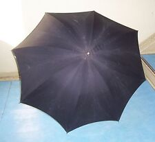 Ancient Black Temple Umbrella Parasol True Vintage Fashion K & R before 1945!