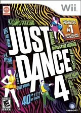 Just Dance 4 [Nintendo Wii, NTSC, Music Dancing Video Game] NEW