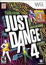 Just Dance 4 [Nintendo Wii, NTSC, Music Dancing Video Game] NEW